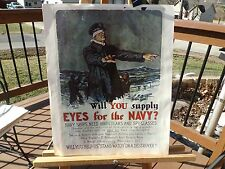 """PRINT OF WWII NAVY RECRUITMENT POSTER NAMED """"WILL YOU SUPPLY EYES FOR THE NAVY"""""""