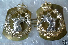 Staybrite Royal Army Dental Corps RADC Collar/Cap Badge PAIR- Anodised Aluminium