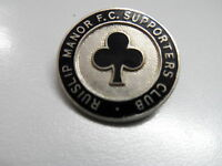 RARE OLD FOOTBALL BADGE RUISLIP MANOR FC.SUPPORTERS CLUB NON LEAGUE BROOCH PIN