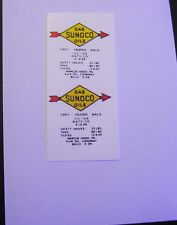 LIONEL SMALL SUNOCO LOGO WITH GAS & OILS WATERSLIDE DECAL  2 DECAL PER SET LOOK!