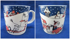 Arabia Finland Vintage Moomin Mug Christmas Greetings 1997 Finnair 75 Rare
