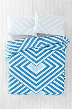Urban Outfitters Assembly Home Blue Mod Chevron Twin XL Duvet Cover S/O NWT