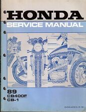 1989 HONDA MOTORCYCLE CB400F &  CB-1 SERVICE MANUAL  (723)