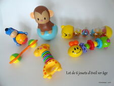 Lot de 6 jouets d'éveil 1er âge, marques Cotoons et divers
