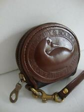 VINTAGE~DOONEY BOURKE~ALL WEATHER~BROWN~LEATHER~BIG DUCK~COIN~CHANGE~PURSE~BAG
