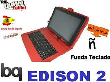 FUNDA TECLADO PARA TABLET Bq EDISON 2 Fnac 10 Color ROJO