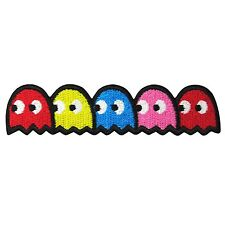 """PAC MAN GHOST Embroidery Patch Iron On Lovey Applique Video Retro Arcade Game 4"""""""