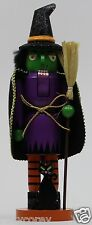 Home Accents Holiday 15 in H Halloween Wooden Decorative Witch Nutcracker NIB