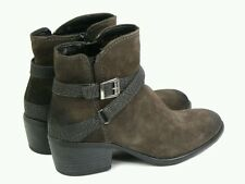 New in! Tamaris asphalt leather and suede ankle boots  Sz 38 UK 5