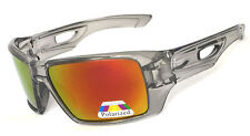 New Eyepatch 2 Mens Polarized Sunglasses - Crystal Black /Red Fire Flash Lens