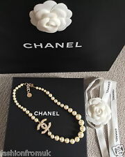 CHANEL CLASIC EMBELLISHED PEARL CC PEARL CHOKER NECKLACE 100 ANN.