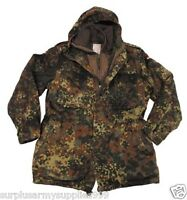 German Army Flecktarn Parka with Quilted Removeable LINER, !!!