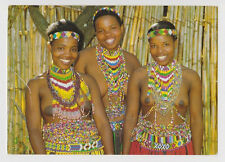 Postcard Nude Risque Topless Women Zulu Beadwork Tribal AFRICA Post Card #3426