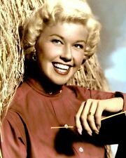 "DORIS DAY 1957 SINGER ACTRESS HOLLYWOOD MOVIE STAR 8X10"" HAND COLOR TINTED PHOTO"