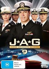 JAG : Season 9 (DVD, 2010, 5-Disc Set) Pre Owned Free Postage
