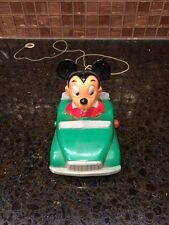 RARE Vintage Walt Disney productions Mickey Mouse Toy Car Tricky Rider Green