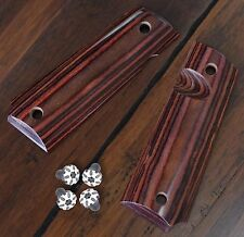 1911 diamond wood red + black Torx screws Grips Full Size, 1911 frame parts,1911