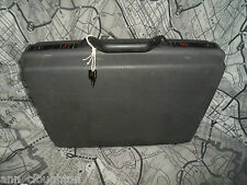 "Good Hard Body Grey Samsonite 18"" Hard Sided  Briefcase With Key"