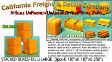 STACKED BOXES-TALL/LARGE (3pcs) N/1:160-Scale Craftsman CAL FREIGHT