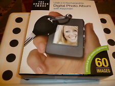 NIB The Sharpers Image Digital Photo Album with Keychain USB 2.0 Rechargeable.