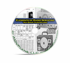 Elements of Radio Servicing, Repair OTR Old Time Radio Comprehensive Book CD C01