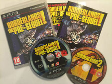 2 X PLAYSTATION 3 PS3 Juegos Borderlands The Pre-sequel! Completas + bl 2 Disco de Juego