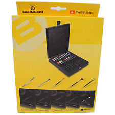 BERGEON 8899-A10 WATCHMAKERS ANTI-MAGNETIC 10 PIECE SCREWDRIVER SET - HS8899-A10