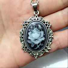 1pcs Fashion Flowers Goddess Cameo Charm silver Alloy Lady Necklace0