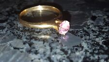 14K Gold Women's Ring With Unknown Pink Stone