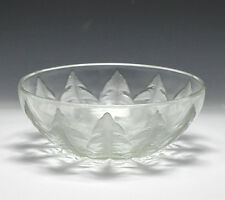 R. Lalique Art Glass Dandelion Bowl Clear w/ frosted and etched Pissenlit design