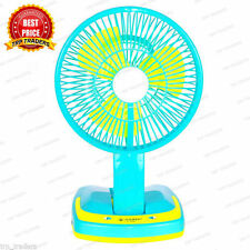 Rechargeable AC/DC 2 Speed Table Fan with 21 SMD LED 2 Mode Lights JYSuper5590