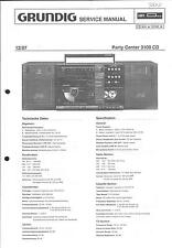 Grundig Original Service Manual für Party Center Partycenter 3100 CD m. 1. Erg.