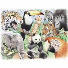 REEVES JUNGLE ANIMALS LARGE WATERCOLOUR PENCIL BY NUMBERS COLOUR PAINT PPWP4