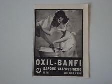 advertising Pubblicità 1942 SAPONE OXIL BANFI - MILANO