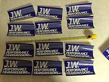 Lot Of 12 J.W. Performance Transmissions Racing NHRA Stickers decals