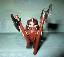 Lego Lord Of The Rings GIMLI Minifigure & 2 AXES From Set# 79008-FREE COMB. SHIP