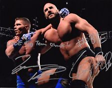 WWE SIGNED PHOTO CESARO & TYSON KIDD WRESTLING 8x10 WITH COA & PROOF