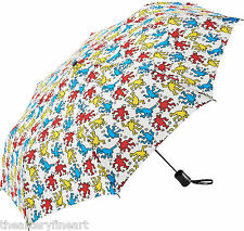 KEITH HARING x UNIQLO 'Dancing Dogs' Compact Folding Travel Umbrella Unisex NEW!