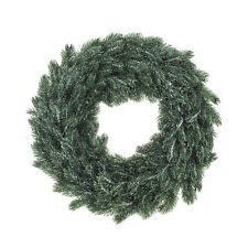 """30cm Green Frosted Artificial Spruce Christmas Pine Door Wall Wreath Ring 12"""""""