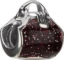 Authentic Chamilia Charm Purple Glitter Purse