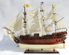 """USS Bonhomme Richard Tall Ship Assembled 34"""" Built Wooden Model Boat"""