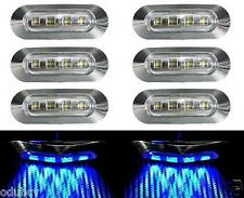 8x LED Feux De Position pour Camion Bus Van LKW Camping car Remorque 12V Chrome