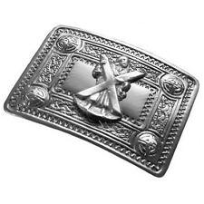 Tartanista Mens Scottish  Celtic St. Andrew Design Kilt Belt Buckle In Chrome