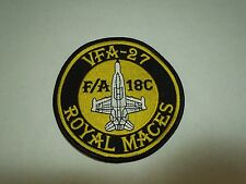 Vintage VFA-27 F/A 18C Hornet Royal Maces US Air Force Squadron Sewing Patch