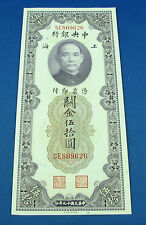 China 1930 50 Customs gold units about unc