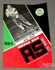 1966-67 AHL Quebec Aces Program Noel Price Cover