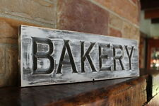 Fixer upper decor farmhouse kitchen sign BAKERY rustic wood signs carved dining