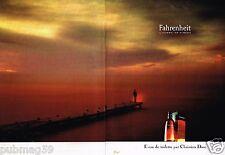 Publicité advertising 1988 (2 pages) Eau de Toilette Fahrenheit Christian Dior