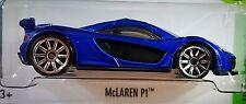 Hot Wheels 2016 HW Exotics McLaren P1 Blue 1:64