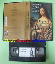 VHS film LUCREZIA BORGIA Una intervista impossibile Maria Bellonci (F20) no dvd